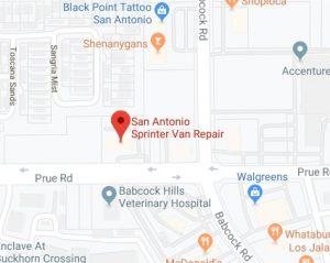 San Antonio Sprinter Van Repair Map